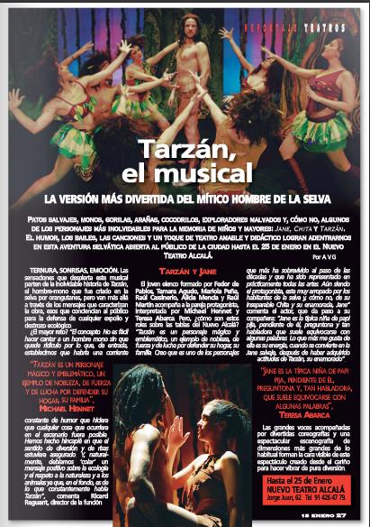 Cartel Tarzán el musical Alcalá